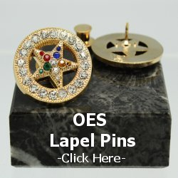 Order of the Eastern Star Lapel Pins