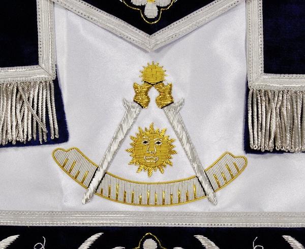 Custom Past Master Apron - Silver Trim on Silk