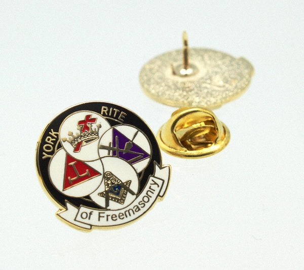 York Rite of Freemasonry Lapel Pin