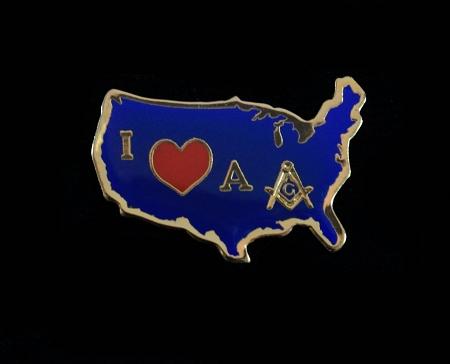 I Love a Mason Masonic American Lapel Pin