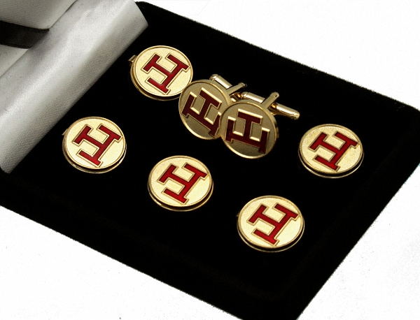 Royal Arch Masons: Chapter Triple Tau Button Cover and Cufflinks Set | York  Rite Button Covers