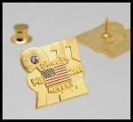 September11, 2001 Memorial - 'Forget? Never!' 9-11 Lapel Pin