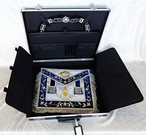 Masonic Apron Metal Brief Case