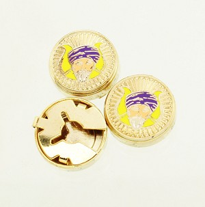 Grotto MOVPER Past Monarch Purple Cap Button Cover and Cuff Link 7 Piece Set