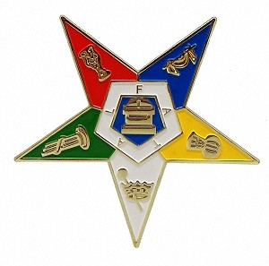 Order of the Eastern Star Gold Car Emblem