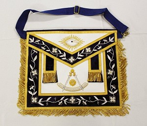 Past Master Apron - Gold Trim on Leather