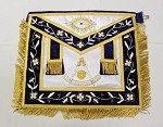 Past Master Apron - Gold Trim on Silk