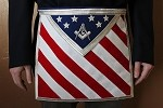 Patriotic Masonic Blue Lodge Masonic Apron