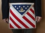 Patriotic Past Master Masonic Apron