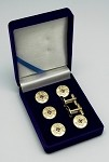 Blue Lodge: Masonic Square and Compass Tuxedo Stud Set and Cufflinks