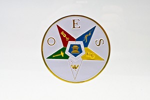 Order of the Eastern Star Car Badge OES