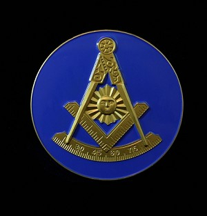 Past Master with Square Car Emblem | Masonic Car Accessories