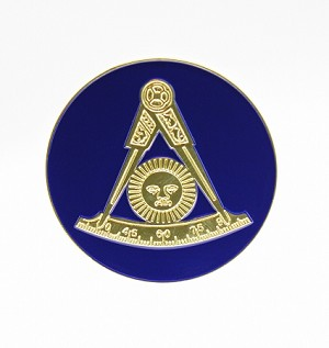 Past Master Without Square Car Badge | Masonic Auto Accessories