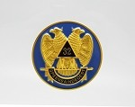Scottish Rite AASR SMJ Car Badge