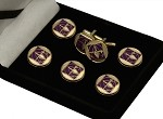 Cryptic Council: Royal and Select Master' Emblem Button Cover and Cufflinks Set | York Rite Button Covers