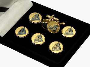 High Twelve: High 12 Member Button Cover & Cufflink Set