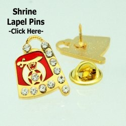 Jeweled Shrine Lapel Pin