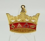 Knights of the York Cross of Honour KYCH Member Crown Jewel with Four Colored Rope Cord | York Rite of Freemasonry Jewel