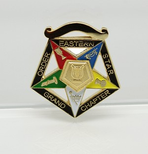 Order of the Eastern Star Grand Officer Jewel - Grand Organist