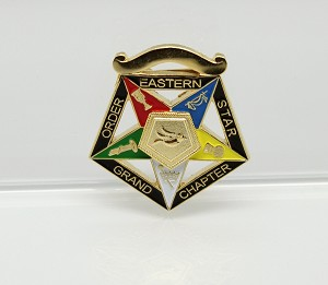 Order of the Eastern Star Grand Officer Jewel - Grand Warder