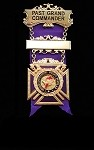 Past Grand Commander of Grand Commandery of Knights Templar Jewel | Grand York Rite of Freemasonry Jewel
