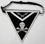 Knights Templar Member Apron Black and Silver Skull and Bones York Rite of Freemasonry Aprons