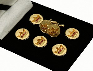 York Rite: Knight York Cross of Honour (K.Y.C.H.) Button Cover & Cufflink Set