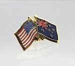 US/Australia Friendship Flag Lapel Pin
