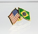 US/Brazil Friendship Flag Lapel Pin