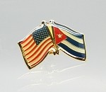 US/Cuba Friendship Flag Lapel Pin