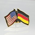 US/Germany Friendship Flag Lapel Pin