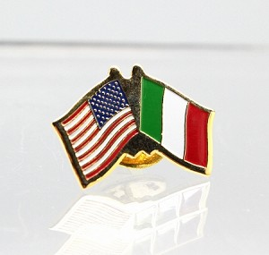 US/Italy Friendship Flag Lapel Pin