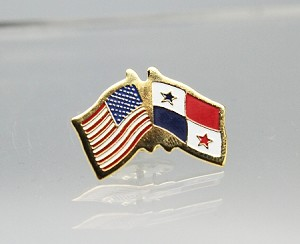 US/Panama Friendship Flag Lapel Pin