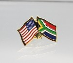 US/South Africa Friendship Flag Lapel Pin