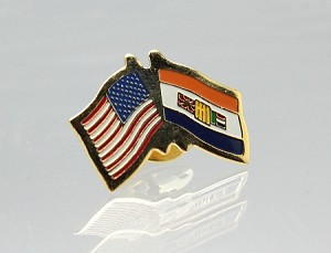 US/Old South Africa Friendship Flag Lapel Pin