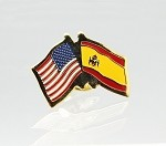 US/Spain Friendship Flag Lapel Pin