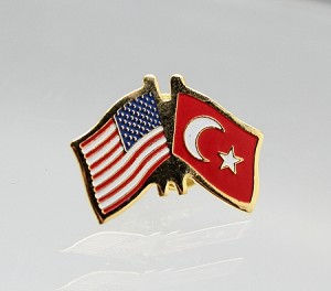 US/Turkey Friendship Lapel Pin