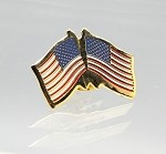 US/US Friendship Flag Lapel Pin