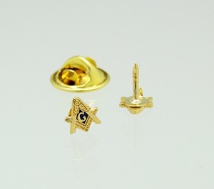 "1/4"" Square & Compass Lapel Pin"