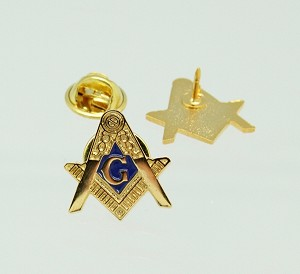 Square and Compass Masonic Lapel Pin 3/4 Inch | Blue Lodge Pins