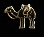 Black Camel Lapel Pin