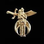 Silent Messenger Shriner All Good Scimitar and Saber Lapel Pin | Shrine Pins