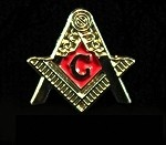 Blue Lodge Second Degree Fellow Craft Masonic Raising Member Pin | Blue Lodge Pins