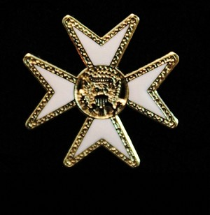 Malta Cross Lapel Pin