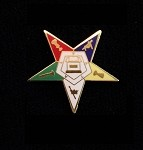 Order of the Eastern Star Lapel Pin Small