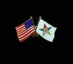 USA / Order of the Eastern Star Flag Lapel Pin