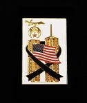 Shrine 9/11 WTC Memorial Lapel Pin