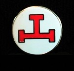 Chapter red Triple Tau In white circle Lapel Pin