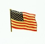 American Waving Flag Lapel Pin 1 Inch Stamped with Epoxy | Patriotic Pins