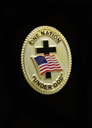 """One Nation Under God"" Lapel Pin"